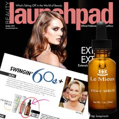 Le Mieux's Vita-C Serum featured in Oct. 2012 issue of Launchpad!