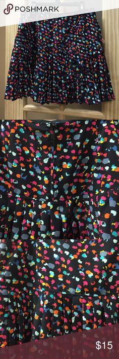 Polka dot skirt Multicolored short polka skirt, ruffled bottom, zipper on the back. Hinge Skirts Mini
