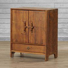Loon Peak Hayford Dongbei-Style 2 Door Cabinet with Shelf & Reviews | Wayfair
