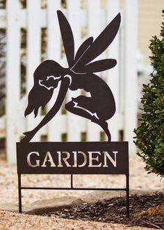 Metal Fairy 'Garden' Stake