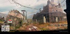 ArtStation - Class Demo Fan art Walking Dead - Design environments, JOSE JULIAN LONDOÑO CALLE