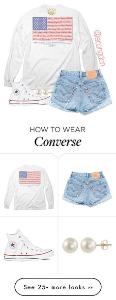 """""""merica"""" by econgdon on Polyvore featuring Converse and PearLustre by Imperial"""