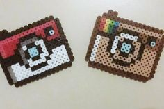 Geek-themed Camera Perler Bead Magnets by BlackMageDark on Etsy