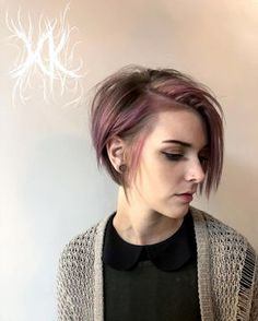67 Pixie Hairstyles and Haircuts in 2019 - Hairstyles Trends Short Curly Hair Updo, Girl Short Hair, Short Hair Cuts, Curly Hair Styles, Edgy Short Hair Styles, A Line Haircut Short, Pixie Hairstyles, Pixie Haircut, Cool Hairstyles