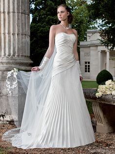 Pleated ruched design