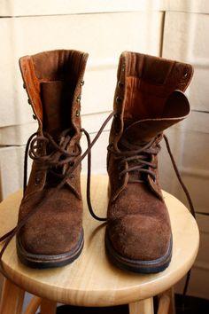 Ralph Lauren Grunge, suede, work boots
