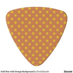 Gold Star with Orange Background Guitar Pick This design is available on many products! Follow the link and click the 'Available On' tab near the product description! Thanks for looking!  @zazzle #star #abstract #pattern #design #color #navy #blue #black #gold #orange #purple #grey #gray #guitar #pick #music #drum #stick #accessory #men #women #shop #buy #sale #gift #idea