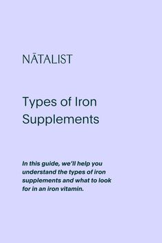 In this guide, we'll help you understand the types of iron supplements and what to look for in an iron vitamin. #prenatalvitamins #prenatal #wellness #prenatal #nutrition #womenshealth #ttc #pregnancy #pregnant #vitamins #fertility #fertilitydiet #baby #babyshower #love #education #OBGYN #fertilityfoods #pregnant #pregnancytest #ovulationtest #diy #health #wellness #inspo #pregnancystyle #fitpregnancy #pregnancyworkout #ttc #ivf #infertility #babyfever #mom #iron #nutrition #supplements