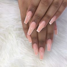 In look for some nail designs and some ideas for your nails? Here is our listing of must-try coffin acrylic nails for stylish women. Acrylic Nails Stiletto, French Acrylic Nails, Simple Acrylic Nails, Summer Acrylic Nails, Coffin Nails, Summer Nails, Clear Acrylic, Aycrlic Nails, Fire Nails