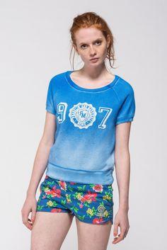 Women's short-sleeve sweatshirt - Franklin & Marshall - Franklin & Marshall
