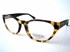 coach eyeglasses hc 6039 baily 5001 dark tortoise optical authentic