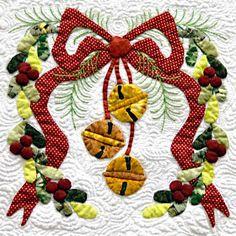 """Baltimore Christmas"" Quilt by Miriam L. Meier"