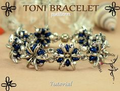 TONI BRACELET pattern tutorial with Crescent by PearlyBeadDesign