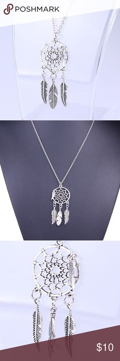 """❤️❤️ Beautiful dreamcatcher silver necklace ❤️""""Jewelry box clean out sale, limited quantity """" Buy any jewelry (earrings/necklace) for 10 dollars and get 1 more any jewelry for just 5 more dollars when you purchase in a bundle, please leave me a comment if you have any question or need help setting up the bundle, and please let me know the colors of the items you want to purchase! Thanks! Jewelry Necklaces"""