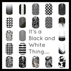 If you love Black & White, Jamberry has you covered! Jamberry Nails Buy 3 Get 1 FREE! Find me on FB : Sharron Chatham - Jamberry