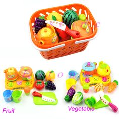 Kitchen Food Play Toy Cutting Vegetable Fruit Knife For Kids Baby Gift 1Set