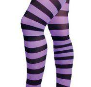 Purple Striped Leggings