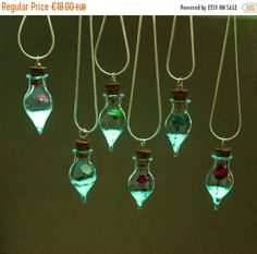 ON SALE Glow in the Dark Glass Pendant by UptownGirlFashion
