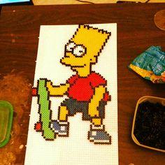 Bart Simpson perler beads by Erik Peterson