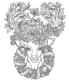 Most up-to-date Images christmas Coloring Books Popular This is actually the supreme help guide coloring pertaining to adults! Obtain advised grown-up colou Deer Coloring Pages, Coloring Pages For Grown Ups, Easter Coloring Pages, Coloring Pages To Print, Adult Coloring Pages, Coloring Books, Printable Christmas Coloring Pages, Christmas Coloring Sheets, Xmas Drawing