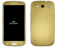 <Brushed Stainless Gold (金) for Galaxy S3>力強い金を模しています。 #iphone #tech #case #skin #accessory #fashion #geek #sexy #apple #technology #products #design #metal