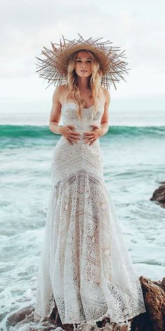 Sparkly Bohemian Rue De Seine Wedding Dresses ❤ See more: http://www.weddingforward.com/rue-de-seine-wedding-dresses/ #weddings