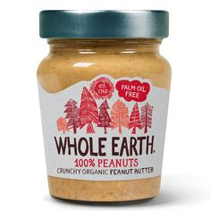 Organic Peanut Butter, Whole Earth, Drink Sleeves