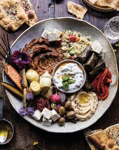 Roasted red pepper mezze platter. Get the recipe.