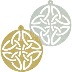 Circle Celtic Knot Ornament Set of 6 by Medieval Collectibles