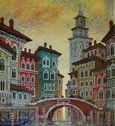 *WAY BELOW COST!* KRASNYANSKY ANATOLE VENICE YELLOW SUNSET SERIOLITHOGRAPH W/COA in Art, Art from Dealers & Resellers, Prints   eBay