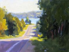 """This location was so noisy with morning traffic that I put in my earplugs. """"Down to The Bay"""" 9x12"""