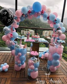 Gender Reveal Party Games, Gender Reveal Party Decorations, Diy Baby Shower Decorations, Gender Party, Reveal Parties, Baby Shower Themes, Pregnancy Gender Reveal, Baby Shower Gender Reveal, Birthday Balloon Decorations