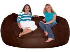 Cozy Sack Foam Bean Bag Chair (Chocolate) Extra Large 7'