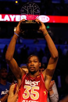 Kevin Durant of the Oklahoma City Thunder was named KIA NBA All-Star MVP as the West edged the East 152-149 at the 2012 NBA All-Star Game from Orlando, FLA
