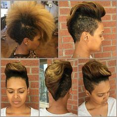 I love this mohawk! !! Summertime look.