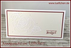 Rose Wonder wedding card. Stampin Up!