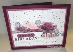 Honeybee's Stamping Hive: Eclectic Expressions Birthday Karten Diy, Scrapbooking, Paper Crafts, Diy Crafts, Card Maker, Happy Birthday Cards, Cool Cards, Stampin Up Cards, Projects To Try