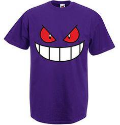 Gengar Face, Men's Printed T-Shirt - Purple/Transfer M Print Wear Clothing http://www.amazon.co.uk/dp/B00GDE799W/ref=cm_sw_r_pi_dp_uuf9vb1E6XZ5N