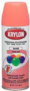 Amazon.com: Krylon 52103 Coral Isle Interior and Exterior Decorator Paint - 12 oz. Aerosol: Home Improvement