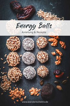 Energy Balls - Instructions & recipes for success on the mountain - Bliss balls, power balls, healthy chocolates, raw balls or simply energy balls. Power Balls, Energy Balls, Raw Balls, Healthy Baking, Healthy Treats, Healthy Desserts, Cheap Healthy Lunch, Bliss Balls, Balls Recipe