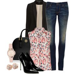 A fashion look from July 2014 featuring VILA blazers, 6397 jeans y Gianmarco Lorenzi pumps. Browse and shop related looks.
