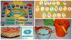 Party ideas for a fun ocean themed birthday party!