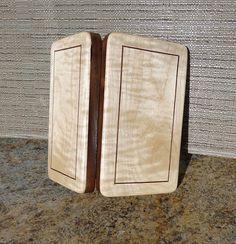 Fly Box Curly Maple WalnutWalnut Inlay 624-417
