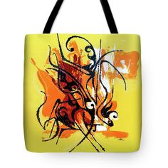 Tote Bag featuring the painting Modern Art Abstract_2 by Rupam Shah