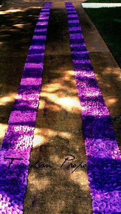 Rose petal side aisle Runner with Purple and by FashionProposals, $125.00