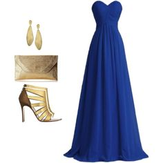 "#MarcoBicego #Lunaria #DropEarrings from #JRDunn in ""gold and dark Blue"" by nouf-sh-otb on Polyvore"
