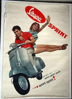 Vespa Piaggio Sprint Poster 1965