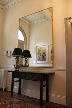 hand made mirror frame in polished brass. Brass Mirror, Mirrors, Polished Brass, Oversized Mirror, Entryway Tables, Furniture Design, Handmade, Frame, Home Decor