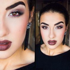 Vampire make up Nyx matte lipstick maison
