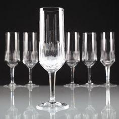 6 v 12 Vintage Kristall Sektgläser Kristallgläser Sektkelche ~ 60er Schliff U6U